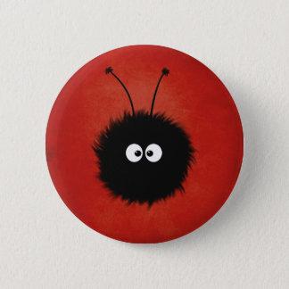 Bóton Redondo 5.08cm Caráter brilhado macio bonito vermelho do inseto