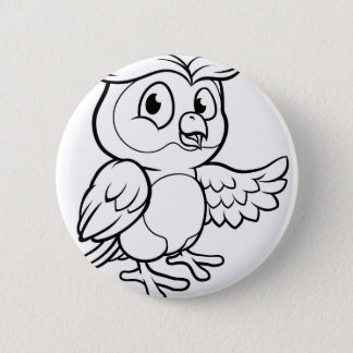 Bóton Redondo 5.08cm Caráter da coruja dos desenhos animados