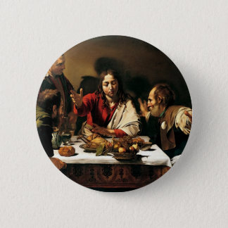 Bóton Redondo 5.08cm Caravaggio - ceia em Emmaus - pintura clássica
