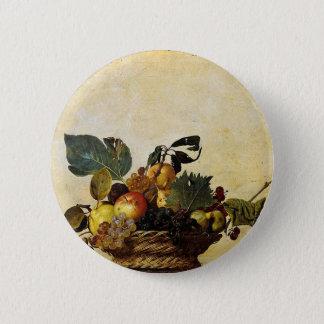 Bóton Redondo 5.08cm Caravaggio - cesta da fruta - trabalhos de arte