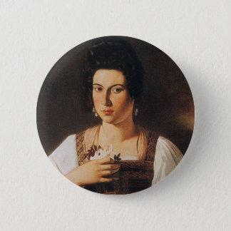 Bóton Redondo 5.08cm Caravaggio - retrato de uma pintura do Courtesan