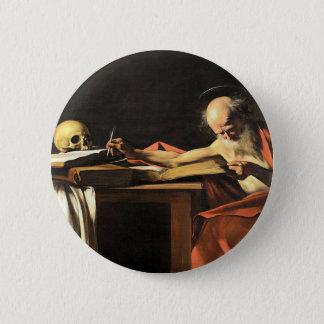 Bóton Redondo 5.08cm Caravaggio - San Gerolamo - pintura do