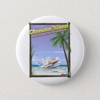 Bóton Redondo 5.08cm Caribe, cartaz do paraíso das ilhas de Canouan