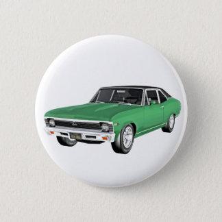 Bóton Redondo 5.08cm Carro verde do músculo 1968