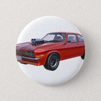 Bóton Redondo 5.08cm carro vermelho do músculo dos anos 70
