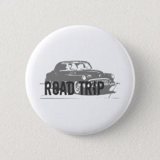 Bóton Redondo 5.08cm Carro vintage da viagem por estrada