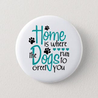 Bóton Redondo 5.08cm Casa com cão