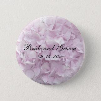 Bóton Redondo 5.08cm Casamento cor-de-rosa macio do Hydrangea