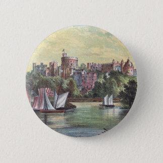 Bóton Redondo 5.08cm Castelo de Windsor através da Tamisa