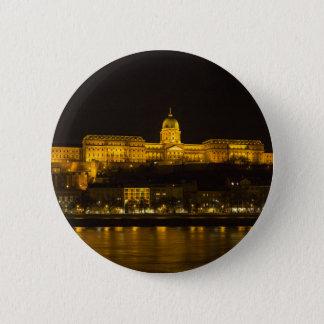 Bóton Redondo 5.08cm Castelo Hungria Budapest de Buda na noite