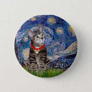 Bóton Redondo 5.08cm CAT (Tabby2) - noite estrelado