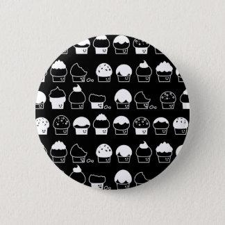 Bóton Redondo 5.08cm Cavalcade do cupcake - teste padrão de repetição
