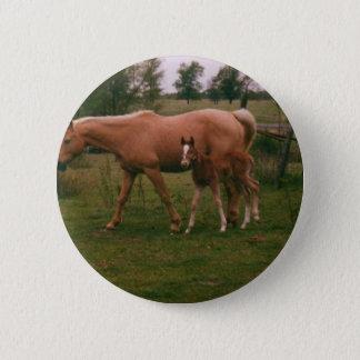 Bóton Redondo 5.08cm Cavalo de Moma e cavalo do bebê