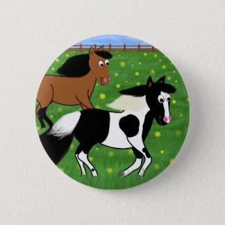 Bóton Redondo 5.08cm Cavalos dos desenhos animados que funcionam no