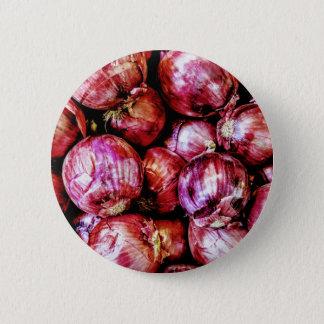 Bóton Redondo 5.08cm Cebola vermelha