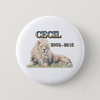 Bóton Redondo 5.08cm Cecil o leão