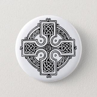 Bóton Redondo 5.08cm Celtic cross pattern