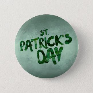 Bóton Redondo 5.08cm Céltico verde do irlandês do trevo do Dia de São