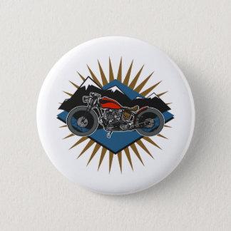 Bóton Redondo 5.08cm Cena da montanha da motocicleta do vintage