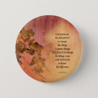 Bóton Redondo 5.08cm Cerca uma do marmelo da oração da serenidade