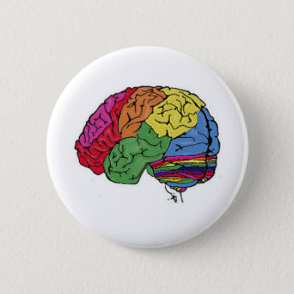 Bóton Redondo 5.08cm Cérebro do arco-íris