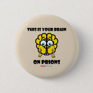Bóton Redondo 5.08cm Cérebro em prião