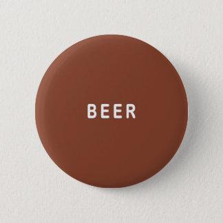 Bóton Redondo 5.08cm Cerveja de Brown