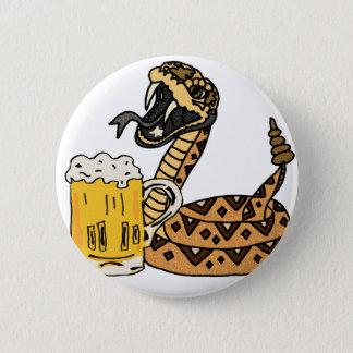 Bóton Redondo 5.08cm Cerveja engraçada do bebendo do cascavel