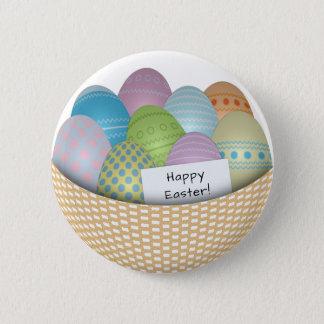 Bóton Redondo 5.08cm Cesta da páscoa com o botão colorido dos ovos