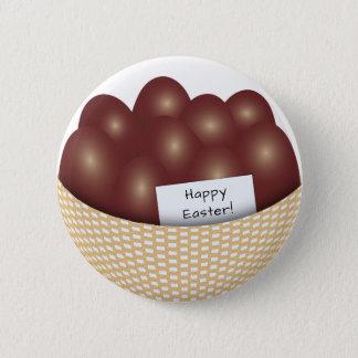 Bóton Redondo 5.08cm Cesta da páscoa com o botão dos ovos de chocolate