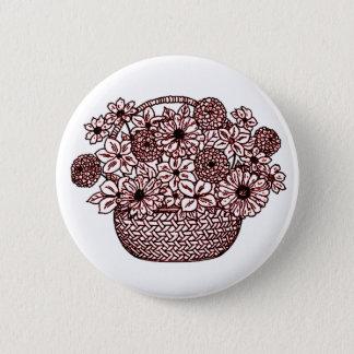 Bóton Redondo 5.08cm Cesta das flores