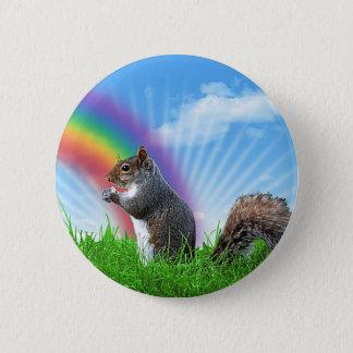 Bóton Redondo 5.08cm Céu do esquilo e do arco-íris