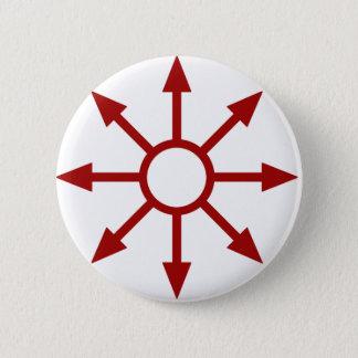 Bóton Redondo 5.08cm Chaote vermelho Sigil