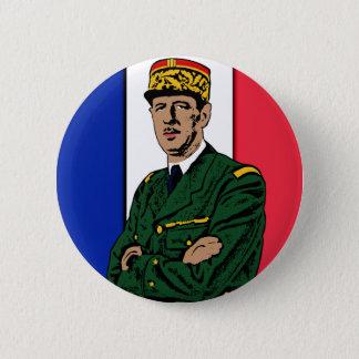 Bóton Redondo 5.08cm Charles de Gaulle