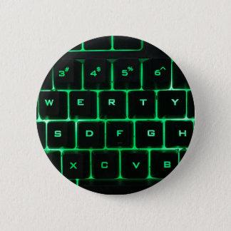 Bóton Redondo 5.08cm Chaves de teclado QWERTY do computador do fulgor