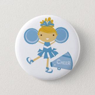 Bóton Redondo 5.08cm Cheerleader no azul