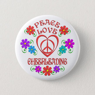 Bóton Redondo 5.08cm Cheerleading do amor da paz