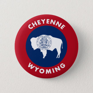 Bóton Redondo 5.08cm Cheyenne Wyoming