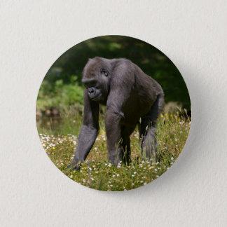 Bóton Redondo 5.08cm Chimpanzé na grama de florescência