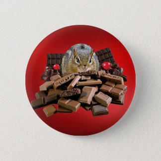 Bóton Redondo 5.08cm Chipmunk do chocolate do dia dos namorados