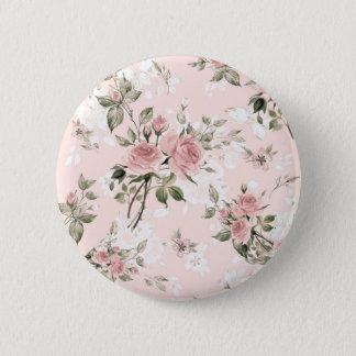 Bóton Redondo 5.08cm Chique, chique francês, vintage, floral, rústico,