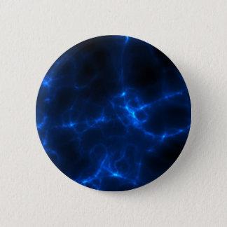 Bóton Redondo 5.08cm Choque eléctrico em azul escuro