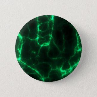Bóton Redondo 5.08cm Choque eléctrico em verde escuro