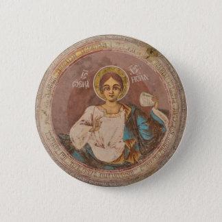 Bóton Redondo 5.08cm chri ortodoxo de jesus do deus da religião da