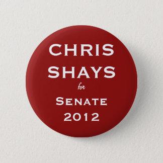 Bóton Redondo 5.08cm Chris Shays para o botão do Senado