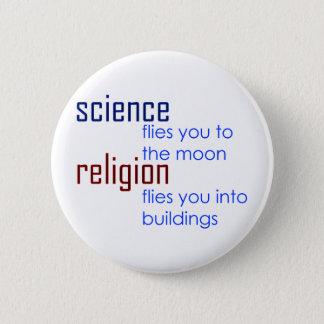 Bóton Redondo 5.08cm ciência e religião