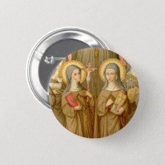 Bóton Redondo 5.08cm Circular pobre de dois santos de Clare (SAU 027)