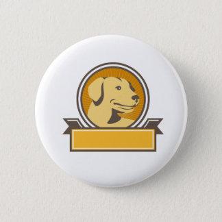Bóton Redondo 5.08cm Círculo amarelo da cabeça do golden retriever de