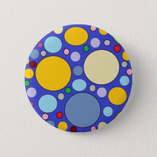 Bóton Redondo 5.08cm círculos e bolinhas