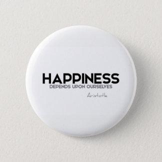 Bóton Redondo 5.08cm CITAÇÕES: Aristotle: Felicidade